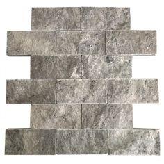 Gümüş 5X10 Fileli Patlatma Taş  www.tasdekorcum.com #dekor #patlatmatas #mozaik #dogaltas#naturalstonemosaic #naturalstone  Natural Stone Mosaic Natural Stone Wall Natural Stone Mosaic Subway Wall Tile Fileli Patlatma Taş Doğal Taş Patlatma Mozaik