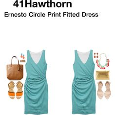 I regret sending this dress back!!! Wish I had kept it. -CC 41Hawthorn Ernesto Circle Print Fitted Dress