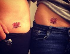 Small Lotus Flower, symbolizes new beginnings. Going to incorporate something like this into my weight loss tattoo!