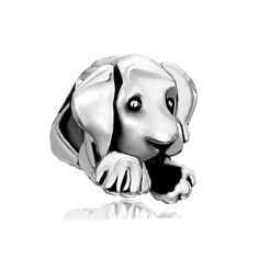 Uniqueen Sterling Silver Cute Puppy Dog Pet Animal Charms Bead For Pandora/Troll/Chamilia Charm Bracelet -- Click image to read more details. #Bracelets