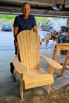 Grandpa Chair by the Rosenthals in Texas Adirondack Chair Plans, Adirondack Furniture, Outdoor Furniture, Bob The Builder, Outdoor Chairs, Outdoor Decor, Shop Ideas, Furniture Plans, Color Schemes