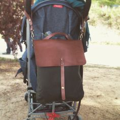 Testing a new bag model in my daughter's stroller www.cocuan.com