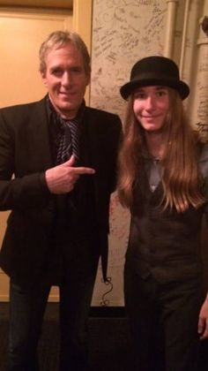 Michael with Sawyer Fredericks at Mitch Albom and Friends Charity Book Launch held at Fox Theatre, Detroit on 8th November, 2015.