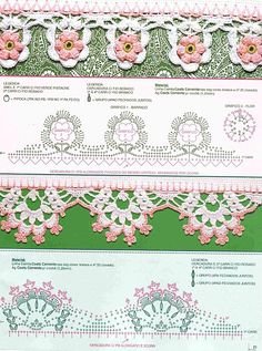 Crochet borders with diagrams