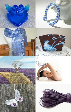 Shades of Cobalt Blue, Lavender and Purple !!! by Justfaithjewelry on Etsy--Pinned with TreasuryPin.com