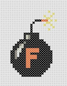 Cheeky F Bomb Cross Stitch Pattern  - This would be great for a friend of mine…