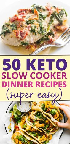 These easy keto slow cooker dinner recipes are so delicious! Now I have the best keto crockpot dinners to make on my keto diet. Even my family loves these low carb crockpot dinner ideas!! Also, plenty of keto soups too! Love these keto dinner recipes for my keto diet!