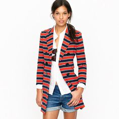 Want this blazer!  With a white shirt, Black pants, and black or tan flats.  Would be SO cute at work!