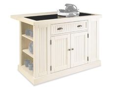 Home Styles 5022-94 Nantucket Kitchen Island, Distressed White Finish by Home Styles, http://www.amazon.com/dp/B006ZDBOV0/ref=cm_sw_r_pi_dpp_9PWDsb0N6XB1T