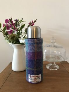 Harris Tweed & Liberty Flask Cover and Flask by CarberryCrafts on Etsy https://www.etsy.com/uk/listing/571221615/harris-tweed-liberty-flask-cover-and