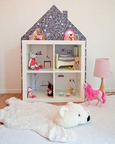 Dollhouse wall stickers suitable for IKEA Kallax or by Limmaland