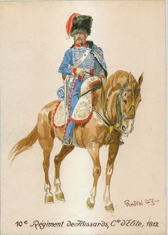 French; 10th Hussars, Elite Co., 1812