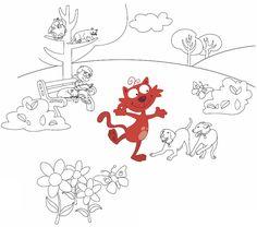 Imagine ce que Chaminou est venu faire au parc. Que voit-il? Qui rencontre-t-il? Complète ensuite cette page avec tes dessins! Téléchargez et imprimez le jeu.  #enfant #jeux