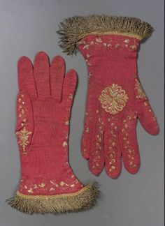 Ecclisistical vestments 17th century | Pair of ecclesiastical gloves, Italian, probably 18th century. knit ...
