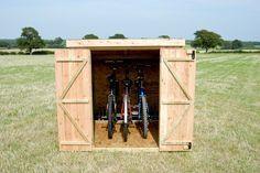 Slot-in bike shed