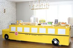 Parkers Wheels on the Bus Birthday party details are now on School Bus Party, Back To School Party, School Parties, 2nd Birthday Party Themes, Kids Party Themes, Birthday Party Decorations, Birthday Ideas, Fourth Birthday, Birthday Bash