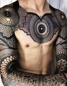 Tattoo b - Tatouage b Tattoo b Cool Chest Tattoos, Tribal Tattoos For Men, Cool Forearm Tattoos, Maori Tattoos, Body Art Tattoos, Tattoos For Guys, Sleeve Tattoos, Tatoos, Awesome Tattoos