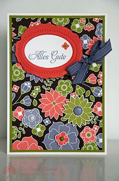 Stampin' UP! Fruit'n'Flowers Retrotrends Galante Grüsse