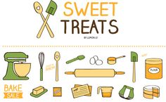 Check out Sweet Treats Baking & Kitchen Icons by johntmeyer on Creative Market