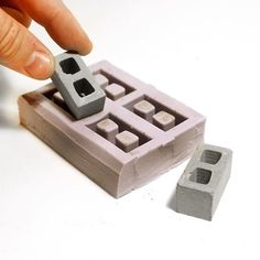 This four piece cinder block mold is the same one we use to make our CMUs. Made of heavy duty silicone, these things will last forever. You can pour almost any hardening material in here, and they wil