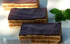 Zserbó recept fotóval Zserbo Recipe, Cake Recipes, Dessert Recipes, Desserts, Delicious Deserts, Hungarian Recipes, Christmas Sweets, Sweet And Salty, Sweet Life