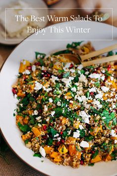 12 Warm Salads That Are Perfect for Winter. Because we're already getting tired of soup. Healthy alternatives to stay full without packing on the calories this Winter.
