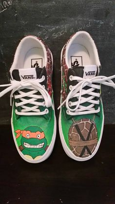 Get your custom made TMNT shoes today with your favorite turtle! Check out  this item 8bdf5cfeb