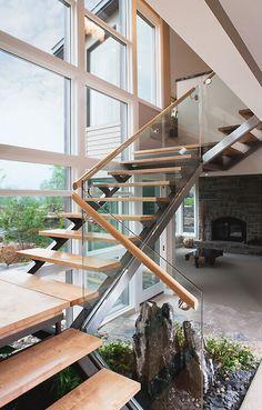 Stairs Treppe Glas luxus Design