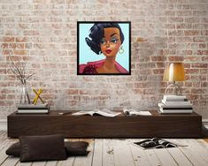 Vintage Black Barbie Framed Art Print from oil painting | Etsy