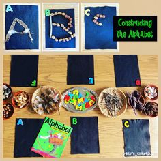 Constructing the Alphabet to go with Book, Alphabet Under Construction by Denise Fleming (from Inquiry Spaces and Wondering Places)