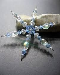 Image result for bead snowflake