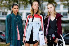 street style, fall winter, models
