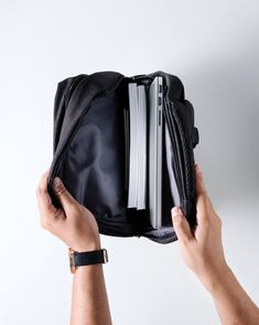 Pack all the essentials in a minimalistic linen light backpack. Black Linen, Sling Backpack, Traveling By Yourself, Essentials, Minimalist, Backpacks, Bags, Collection, Fashion