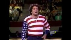 Robin Williams as the America Flag