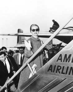 Grace Kelly boarding American Airlines, circa 1950