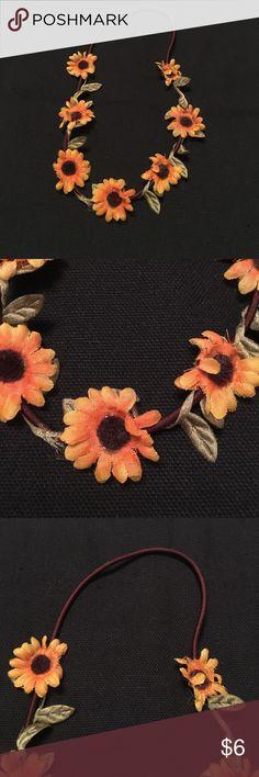 Sunflower Headband Super cute sunflower Headband. Has 7 small sunflowers Accessories Hair Accessories