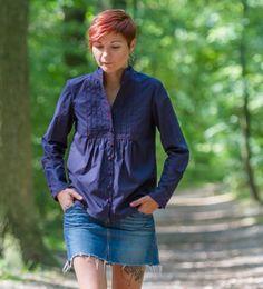 Tuxedo-style shirt #burdastyle #sewing #member #project #sew #diy