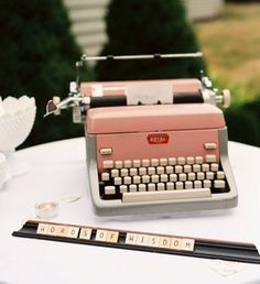 Typewriter & Scrabble Wedding Guest Words of Wisdom