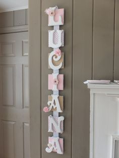 Name Plaque 7 Letter  Personalized Door Sign  by FaeriePoppins, $63.00