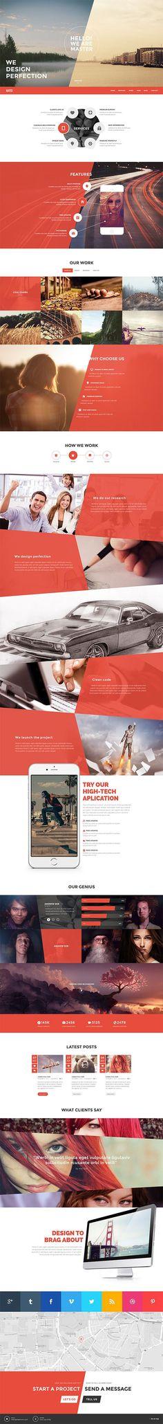 Master - Onepage Portfolio Theme by Qodepixel #wordpress #themeforest #website…