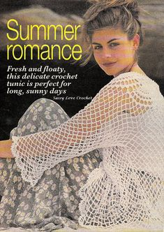 Crochet Lace Cover-up PATTERN Ladies Womens Brides Weddings