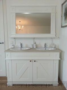 Landelijk badkamermeubel Sven met spiegel