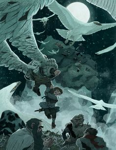 One of Sam Bosma's contributions to the Picture Book Report project. http://picturebookreport.com/ #thehobbit #tolkien