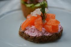 Smoked salmon Canapes with carp roe creame by Mr Fresh Eat Happy, via Flickr