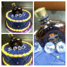 Crown Royal Bottle Cake