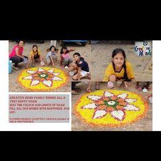 Happy Onam, Family Wishes, Flower Rangoli, Art School, Flower Decorations, Beautiful Flowers, Beach Mat, Outdoor Blanket, Joy