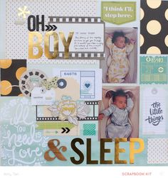 #papercraft #scrapbook #layout. OH BOY! by amytangerine at @studio_calico