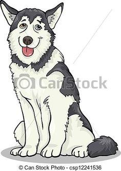 husky cartoon - Google Search