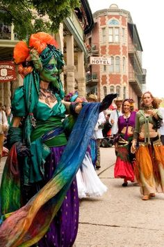 On the first Saturday in May, the Artrageous Parade in Eureka Springs is truly outrageous. Photo by Richard Quick at Capture Arkansas Eureka Springs Arkansas, Arkansas Usa, New Orleans Hotels, Green Queen, Tribal Belly Dance, Art Walk, Home And Away, Along The Way, Vacation Spots