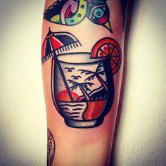 Cocktail Drink tattoo